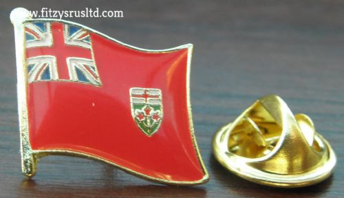 Ontario Flag Lapel Hat Cap Tie Pin Badge Ottawa Canada Gift Souvenir New